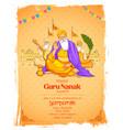 happy gurpurab guru nanak jayanti festival of vector image vector image