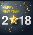 happy new year 2018 design template layout vector image