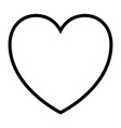 heart icon in black silhouette with thick contour vector image