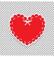 heart seal stamp for scrapbooking design vector image vector image