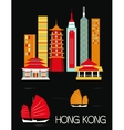 Hongkong city vector image vector image