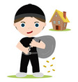 house thief vector image