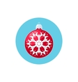 Icon Red Ball with Snowflake vector image vector image