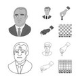 isolated object of checkmate and thin icon vector image vector image