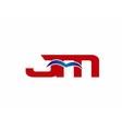 JM Logo Graphic Branding Letter Element vector image vector image