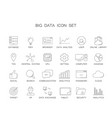 line icons set big data pack vector image vector image