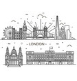 linear banner of london city vector image