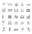 london icons set england thin line design vector image vector image