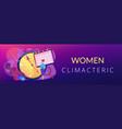 menopause concept banner header vector image vector image