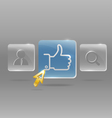 Modern social media menu vector image vector image