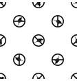 no rats sign pattern seamless black vector image vector image