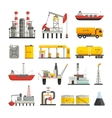 Oil Petrol Industry Icons Set vector image vector image