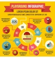 Playground infographic elements flat style vector image vector image