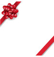 red bow isolated with white background vector image vector image