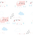 scandinavian pattern with cat vector image vector image