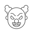 scary clown or joker halloween character icon vector image vector image