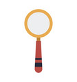 school magnifier search discovery science vector image vector image