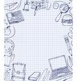 School Test Book 05 A vector image vector image