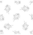 seamless pattern flower ink sketch vector image