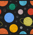 seamless pattern with planets and other celestial vector image vector image