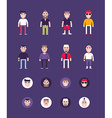 Set of Male Avatars and Icons Flat Style Fashion vector image vector image