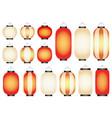 set of paper lanterns vector image vector image