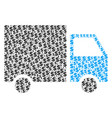 shipment van collage of dollar and dots vector image vector image
