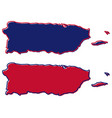 simplified map of puerto rico outline fill and vector image vector image