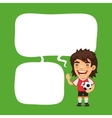Soccer Player Speech Bubble vector image vector image
