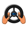 steering wheel icon vector image vector image