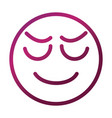 stressed funny smiley emoticon face expression vector image