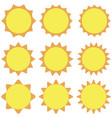 sun icon isolated background vector image