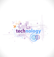 Technology futuristic digital template for tech vector image vector image
