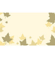 thanksgiving with maple background style vector image vector image