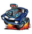 usa classic muscle car pride cartoon vector image