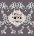 vintage menu card rich vector image