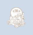 vintage sketch with spa treatments vector image vector image