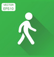 walking man icon business concept people walk vector image vector image