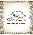 we wish you a merry christmas background vector image vector image