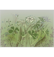 wildflowers pastel drawing vector image vector image