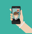woman and man make a video call in business vector image