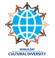 world day for cultural diversity with colorful vector image vector image