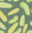 Zucchini seamless pattern background ripe vector image vector image