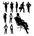 silhouettes of businessmen vector image