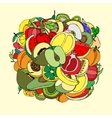 many fruits vector image