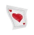poker playing card gambling drawing vector image