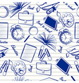 School items seamless vector image