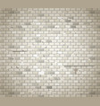 Old dirty brick wall background vector image