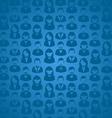 Social media user seamless pattern vector image