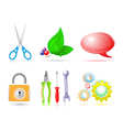 3d set of icon vector image vector image